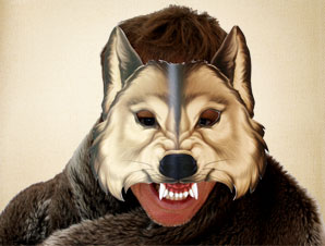 Big Bad Wolf Mask from Little Red Riding Hood