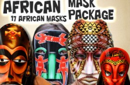 African masks printable african mask african animal masks african mask package pronofoot35fo Gallery