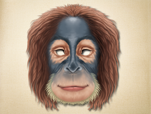 image regarding Printable Monkey Masks referred to as Printable Animal Masks animal masks for small children The