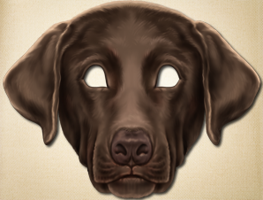 Chocolate Lab Dog Mask
