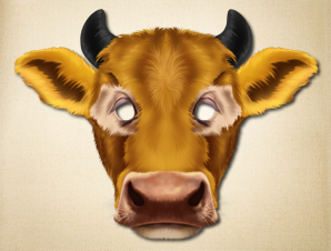 photo relating to Cow Mask Printable known as Cow Animal Mask The Printable Mask Retail store