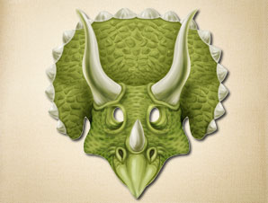 graphic about Printable Dinosaur Masks identified as Triceratops Mask The Printable Mask Retail outlet