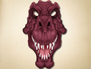 graphic regarding Dinosaur Mask Printable known as Tyrannosaurus Rex Mask The Printable Mask Retailer
