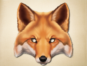 Unpredictable Fox Animal Mask To Print