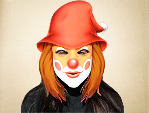 Li'l Red Riding Hood Clown Mask