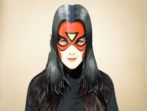 Superhero Female Mask