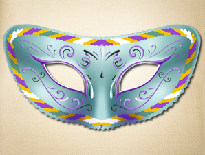 Blue Mirage Masquerade Mask