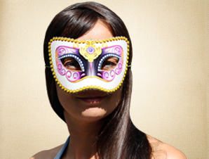 Multi Colored Masquerade Mask
