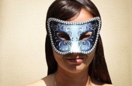 Steel Blue Masquerade Mask