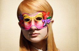 Flowery Masquerade Mask