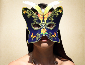 Golden Butterfly Masquerade Mask