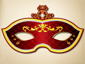 Red and gold masquerade mask the printable mask shop red and gold masquerade mask pronofoot35fo Gallery