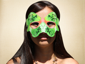 Bright Green Masquerade Mask