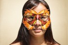Orange and red fiery Masquerade Mask