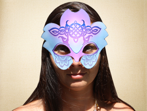 Blue and Purple Masquerade Mask