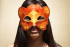 Dark Orange Masquerade Mask