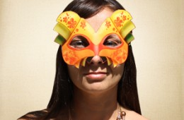 Oriental looking Masquerade Mask