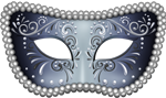 masquerade mask blue