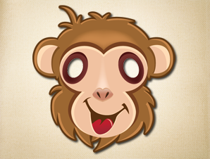 graphic relating to Printable Masks for Kids called Little ones Goofy Monkey Mask Animal Mask The Printable Mask Retailer