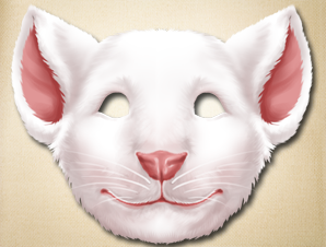 Printable mouse mask the printable mask shop for Printable mouse mask template