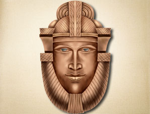 Brown Pharaoh Mask