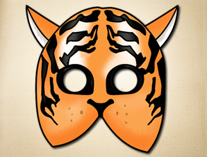 The beauty of african masks the printable mask shop simple tiger mask pronofoot35fo Gallery