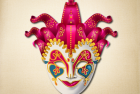 Fancy Jester Venetian Mask