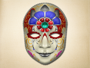Pale Faced Realistic Venetian Mask