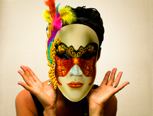 Highly Detailed Colorful Venetian Mask