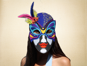 Bright Colored Venetian Mask